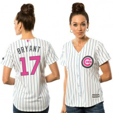 Women - 2016 Mother's Day Chicago Cubs #17 Kris Bryant White Home Cool Base Jersey