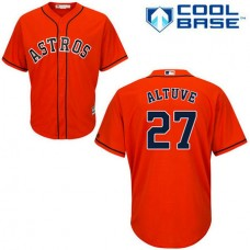 Houston Astros #27 Jose Altuve Orange Cool Base Alternate Jersey