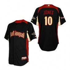 Atlanta Braves #10 Chipper Jones National League 2011 All-Star BP Black Authentic Jersey