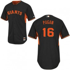 San Francisco Giants #16 Angel Pagan Black Authentic Cool Base Jersey
