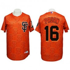 San Francisco Giants #16 Angel Pagan Authentic 3D Fashion Orange Jersey