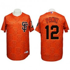 San Francisco Giants #12 Joe Panik Authentic 3D Fashion Orange Jersey
