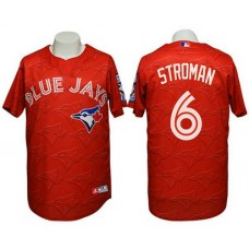 Jays #6 Marcus Stroman 3D Watermark Edition Red Jersey
