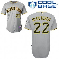 Pittsburgh Pirates #22 Andrew McCutchen Grey Authentic Cool Base Jersey