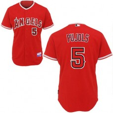 Los Angeles Angels of Anaheim #5 Albert Pujols Red Cool Base Jersey