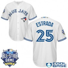 Toronto Blue Jays #25 Marco Estrada White 2016All Star Game Patch Cool Base Jersey