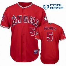 Los Angeles Angels #5 Albert Pujols Red 2016 Cool Base Jersey
