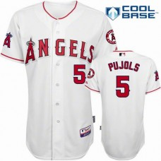 Los Angeles Angels #5 Albert Pujols White 2016 Cool Base Jersey