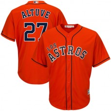 Houston Astros #27 Jose Altuve Orange Authentic Cool Base Jersey