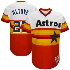 Houston Astros #27 Jose Altuve White 1977 Throwback Turn Back the Clock Authentic Player Jersey