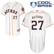 Houston Astros #27 Jose Altuve Authentic White Home Cool Base Jersey