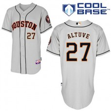 Houston Astros #27 Jose Altuve Authentic Grey Away Cool Base Jersey