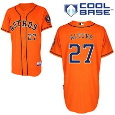Houston Astros #27 Jose Altuve Authentic Orange Alternate Cool Base Jersey