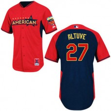 Houston Astros #27 Jose Altuve Authentic Red/Navy American League 2014 All Star BP Jersey