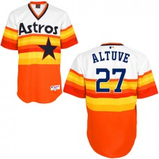 Houston Astros #27 Jose Altuve Authentic White/Orange 1979 Turn Back The Clock Jersey