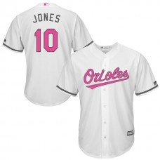 Baltimore Orioles #10 Adam Jones White Home 2016 Mother's Day Cool Base Jersey