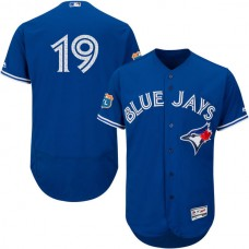 Toronto Blue Jays #19 Jose Bautista Royal Blue Authentic Collection On-Field Spring Training Player Jersey