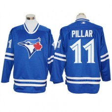 Kevin Pillar #11 Toronto Blue Jays Royal Long Sleeve Offical Cool Base Jersey