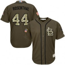 St. Louis Cardinals #44 Trevor Rosenthal Olive Camo Jersey