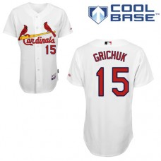 St. Louis Cardinals #15 Randal Grichuk White Cool Base Home Jersey