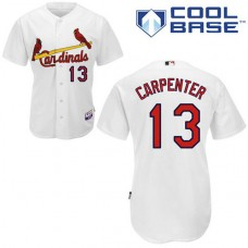 YOUTH St. Louis Cardinals #13 Matt CarpenterAuthentic White Home Cool Base Jersey
