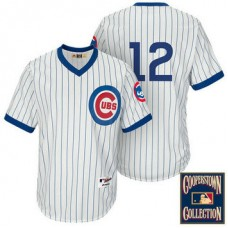 Chicago Cubs #12 Kyle Schwarber White 1988 Turn Back The Clock Throwback Jersey
