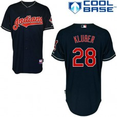 Cleveland Indian #28 Yan Gomes Blue Jersey
