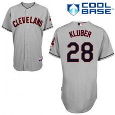 Cleveland Indian #28 Yan Gomes Grey Jersey