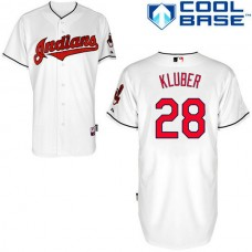 Cleveland Indian #28 Yan Gomes White Jersey