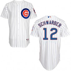 Chicago Cubs #12 Kyle Schwarber White Authentic Cool Base Home Jersey