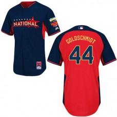 Arizona Diamondbacks #44 Paul Goldschmidt Authentic Navy/Red National League 2014 All Star BP Jersey