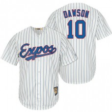 Montreal Expos #10 Andre Dawson White/Royal Cooperstown Player Cool Base Jersey