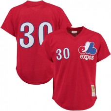 Montreal Expos #30 Tim Raines Red Cooperstown Player Cool Base Jersey