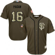 San Francisco Giants #16 Angel Pagan Olive Camo Jersey