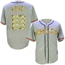 San Francisco Giants #18 Matt Cain Grey Camo Cool Base Jersey