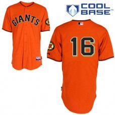 San Francisco Giants #16 Angel Pagan Authentic Orange Alternate Cool Base Jersey