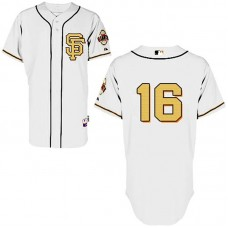 San Francisco Giants #16 Angel Pagan Authentic CreamJersey