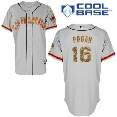 San Francisco Giants #16 Angel Pagan Authentic Grey USMCCool Base Jersey
