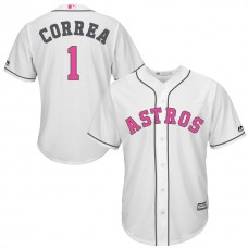 Houston Astros #17 Carlos Correa White Home 2016 Mother's Day Cool Base Jersey