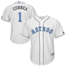 Houston Astros #1 Carlos Correa White Fashion 2016 Father's Day Cool Base Jersey