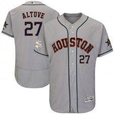 Houston Astros Jose Altuve #27 Grey 2017 All-Star Flex Base Jersey