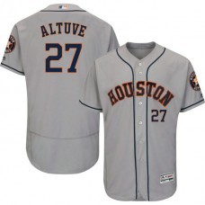 Houston Astros Jose Altuve #27 Grey Authentic Collection Flexbase Jersey