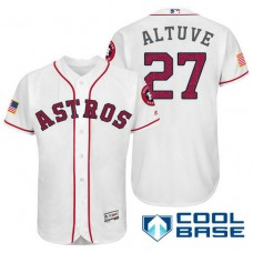 Houston Astros #27 Jose Altuve White Stars & Stripes 2016 Independence Day Cool Base Jersey