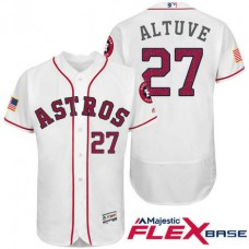 Houston Astros #27 Jose Altuve White Stars & Stripes 2016 Independence Day Flex Base Jersey