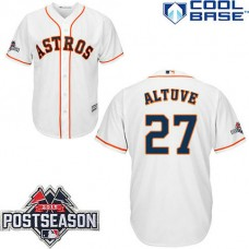 Houston Astros #27 Jose Altuve White Cool Base Home Jersey