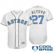 Houston Astros #27 Jose Altuve White Fashion 2016 Father's Day Cool Base Jersey