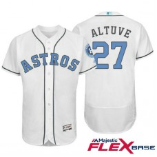Houston Astros #27 Jose Altuve White Fashion 2016 Father's Day Flex Base Jersey