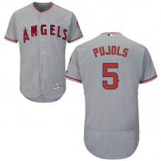 Los Angeles Angels Albert Pujols #5 Road Grey Authentic Collection Flex Base Jersey