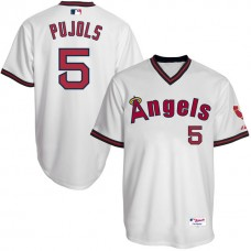 Los Angeles Angels Albert Pujols #5 White Authentic Turn Back the Clock Jersey