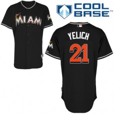 Miami Marlins #21 Christian Yelich Black Alternate Cool Base Jersey